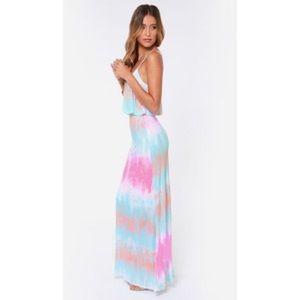Never Say Tie-Dye Blue Maxi Dress